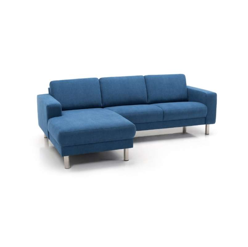 city sofa med chaiselong blå